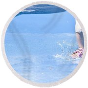 A Splishin' And A Splashin'  Round Beach Towel