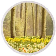 A Spring Day Round Beach Towel by Jasna Buncic