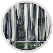 A Spring That Knows No Summer. Round Beach Towel