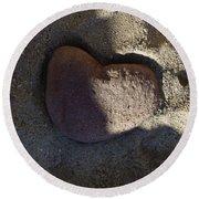 A Stone Heart Round Beach Towel