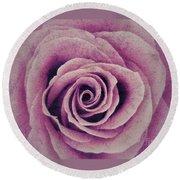 A Sugared Rose Round Beach Towel