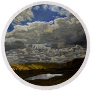 A Summer Day On Cottonwood Pass Round Beach Towel