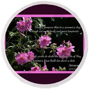 A Summer's Day Pink Romance Round Beach Towel