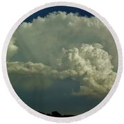 A Supercell Is Born Round Beach Towel