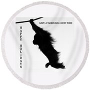 A Swinging Good Time Round Beach Towel