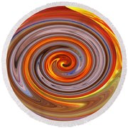 A Swirl Of Colors From The Sun And Earth Round Beach Towel