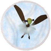 A Tackiebird Closeup Round Beach Towel