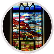 Another Tale Of Windows And Magical Landscapes Round Beach Towel