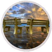 A Time For Reflection Round Beach Towel