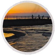 A Time To Reflect Round Beach Towel
