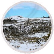 A Touch Of Blue Panorama Round Beach Towel
