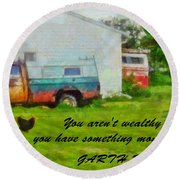 A Touch Of Country Round Beach Towel