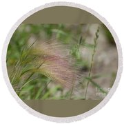 A Touch Of Pink Round Beach Towel