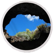 A Touch Of Sky Round Beach Towel