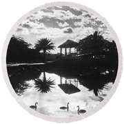 A Tranquil Scene In Hawaii Round Beach Towel