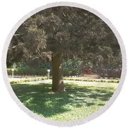 A Tree Round Beach Towel