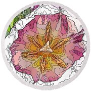 A Tulip To You Round Beach Towel