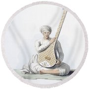 A Tumboora, Musical Instrument Played Round Beach Towel