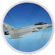 A Typhoon Aircraft From 29 Squadron Royal Air Force Round Beach Towel