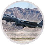 A U.s. Air Force F-15e Strike Eagle Round Beach Towel