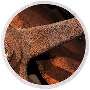 A Very Rusty Steering Wheel Round Beach Towel