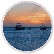 A View From A Catamaran2 - Aruba Round Beach Towel