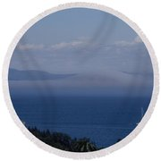 A View From Acadia Round Beach Towel