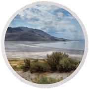 A View From Buffalo Point Of White Rock Bay Round Beach Towel