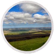 A View From Cabbage Hill Round Beach Towel