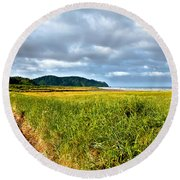 A View From Discovery Trail Round Beach Towel by Robert Bales
