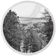 A View From Estes Park Round Beach Towel