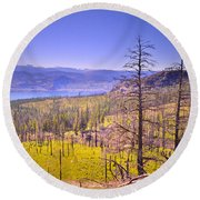 A View From Okanagan Mountain Round Beach Towel