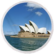 A View Of The Sydney Opera House Round Beach Towel