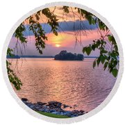 A View To A Sunset Round Beach Towel