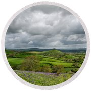 A View To Colmer's Hill Round Beach Towel