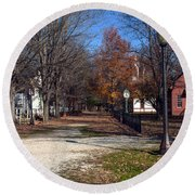 A Walk Down History Lane Round Beach Towel