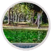 A Walk In The Park By Diana Sainz Round Beach Towel