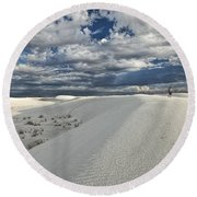 A Walk On The Dunes Round Beach Towel