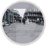 A Wedding In Jackson Square Round Beach Towel