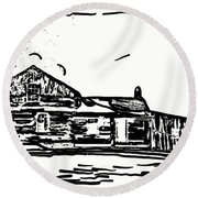 A Winter Dream 3 Round Beach Towel