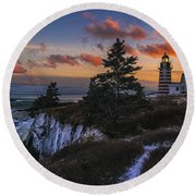 A Winter Dusk At West Quoddy Round Beach Towel