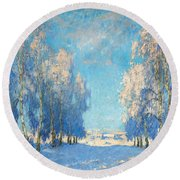 A Winter's Day Round Beach Towel