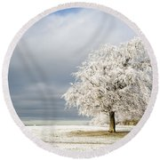 A Winter's Morning Round Beach Towel