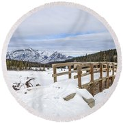 A Winter's Tale Round Beach Towel