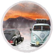 A Winters Tale Round Beach Towel