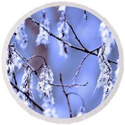 A Withered Branch Round Beach Towel by Tommytechno Sweden