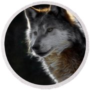 A Wolf 2 Digital Art  Round Beach Towel