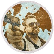 A World Of Pain Round Beach Towel by Filippo B