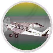 A1a Husky Aviat Airplane Round Beach Towel