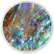 Abalone Abstract3 Round Beach Towel